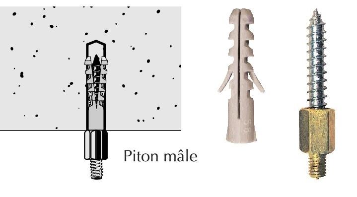 Schéma piton male beton