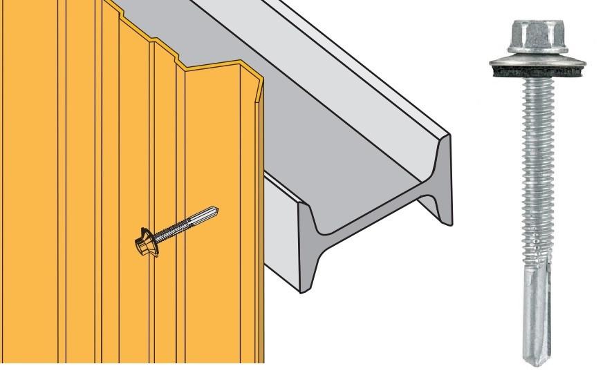 Vis inox TH autoperçeuse P13 Ø5,5 + vulca - fixation bardages bacs acier sur poutrelles