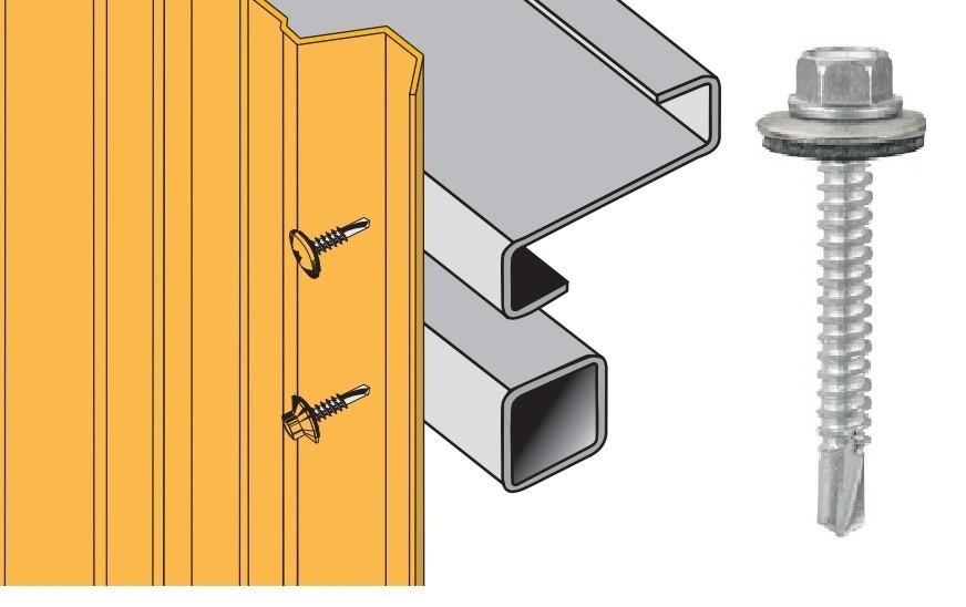 Vis inox TH autoperçeuse P5 Ø5,5 + vulca - fixation bardages bacs acier sur profilés/tubes