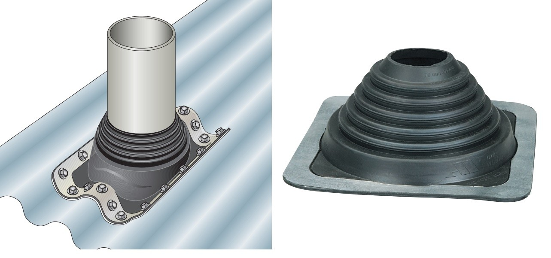 Manchon fenoflash de sortie de toiture pour plaques fibres-ciment
