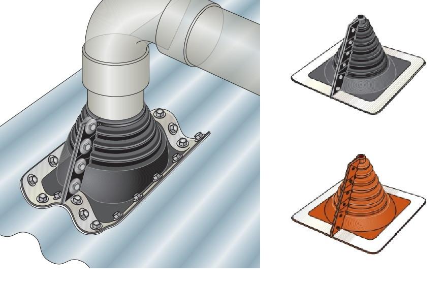 Manchon fenoflash à ouverture latérale pour plaques fibres-ciment
