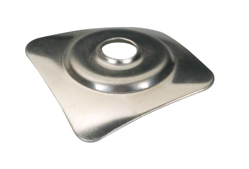 plaquette 40x40 Inox ou Alu pour couverture plaque fibres-ciment 177x51
