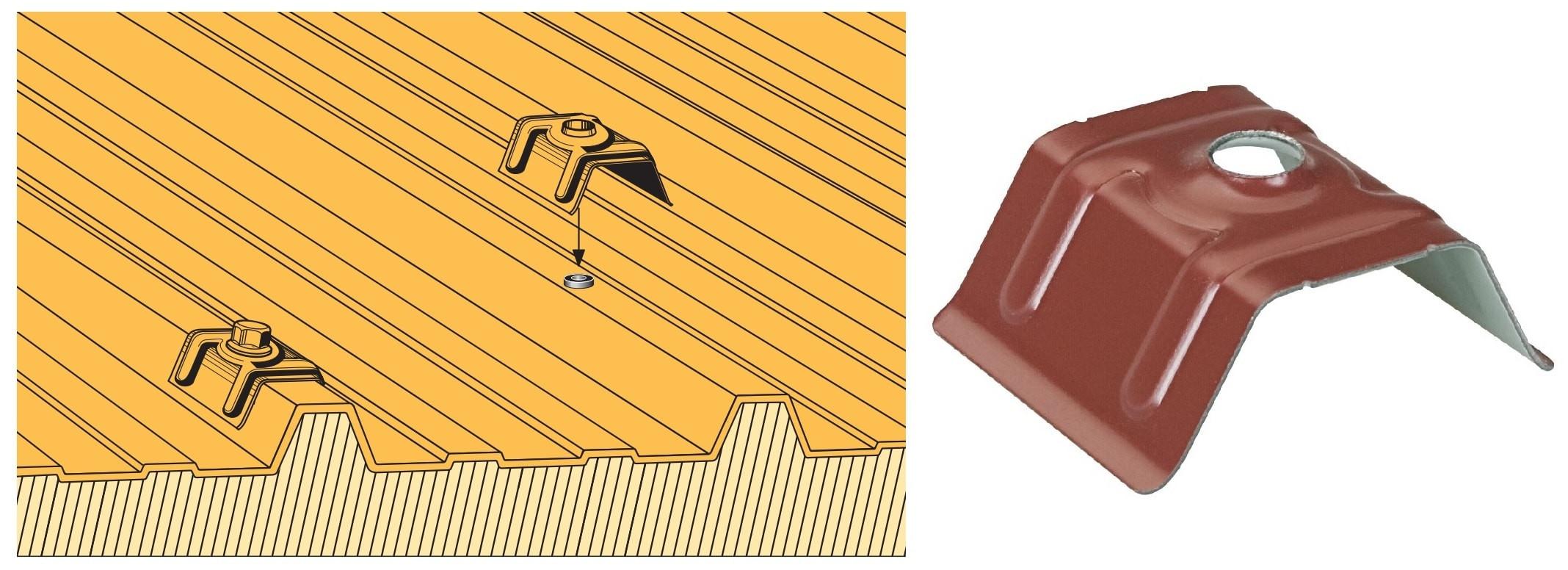 Cavalier acier prélaqué pour panneaux sandwich - Choix par désignation des profileurs