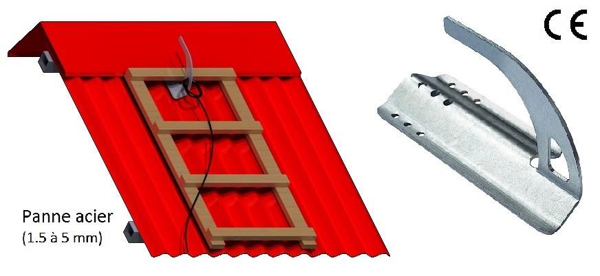 Schéma crochet sécurité tog sur acier