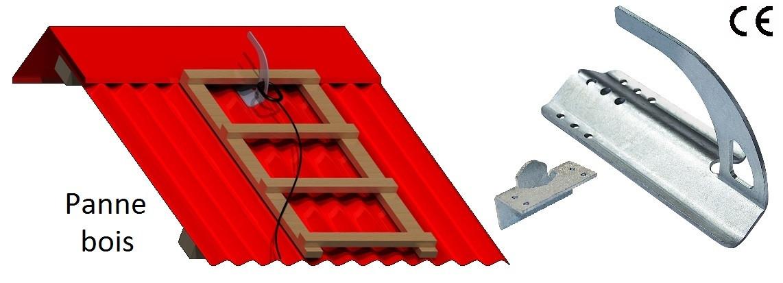 Schéma crochet sécurité tog sur bois