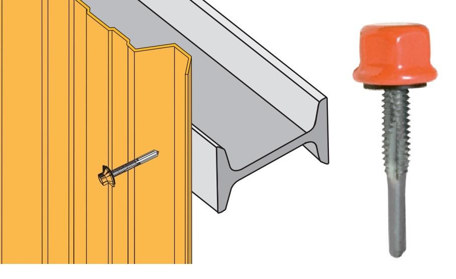 Vis tetalu P13 5.5x35 laquée