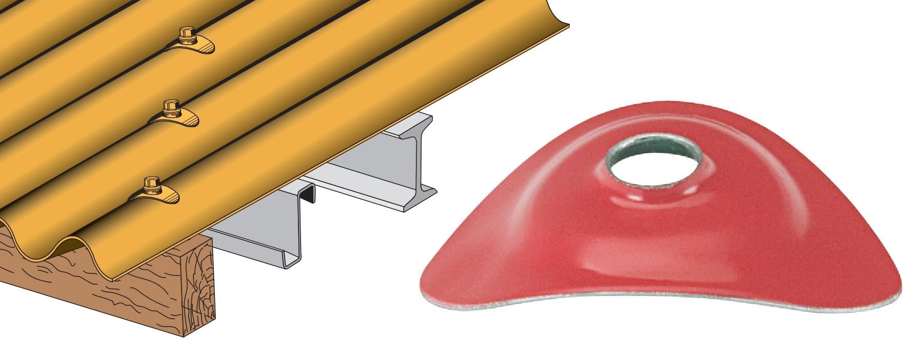 Plaquette acier prélaqué pour tôle ondulée