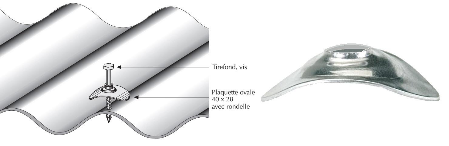Plaquette aluminium naturel pour tôle ondulée