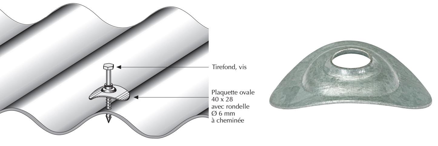 Plaquette acier galvanisé naturel pour tôle ondulée