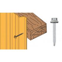 Vis inox TH autoperçeuse P1 Ø6,3 + vulca - fixation bardages bacs acier sur bois