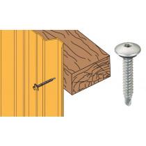 Vis inox TCB autoperçeuse P1 Ø6,3x38 + rondelle - fixation bardages bacs acier sur bois