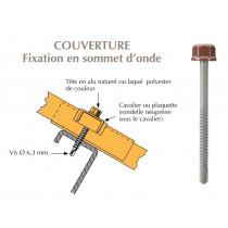 Vis têtalu autoperçeuse P5 Ø6,3 TK12 laquée pour couverture bacs acier nervurés sur profilés/tubes