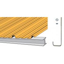 Crochet Ø7SN pour couverture bacs acier nervurés sur poutrelle métallique