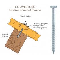 Tirefond Galvachaud TH à bourrer diamètre 8mm pour bacs acier nervurés sur bois
