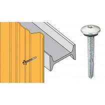 Vis inox TCB autoperçeuse P13 Ø5,5x40 - fixation bardages bacs acier sur poutrelles
