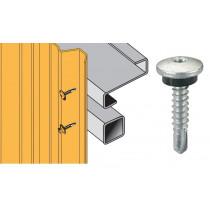 Vis inox TCB autoperçeuse P6 Ø5,5 - fixation bardages bacs acier sur profilés/tubes