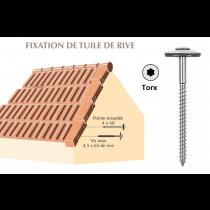 Vis inox Torx pour fixation de tuile de rive