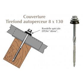 Tirefond autoperceur pour couverture plaque fibres-ciment 177x51