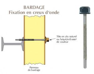 Vis têtalu autoperçeuse P13 Ø5,5 TK12 laquée pour bardages panneaux sandwich (mousse PE) sur poutrelles