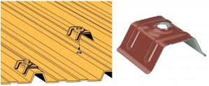 Cavalier acier prélaqué - Choix par dimensions de nervures