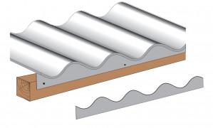 Closoir polypropylène pour plaques fibres-ciment GO 177x51