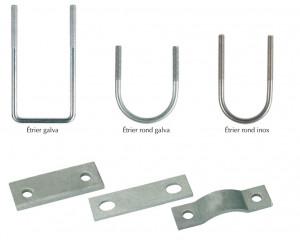 étriers simples et platines pour assemblages ou travaux divers