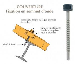 Vis têtalu autoperçeuse P13 Ø5,5 TK12 laquée pour couverture bacs acier nervurés sur poutrelles