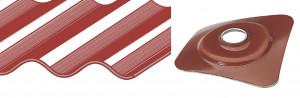 plaquette laquée 40x40 pour couverture plaque fibres-ciment 177x51