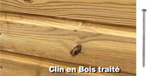 pointe en acier inoxydable austénitique A2 pour bardage clin bois