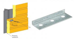 Plaquette de répartition pour panneaux sandwich de bardage