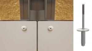 Rivet alu / inox Ø4,8 tête extra large Ø16 - fixation de panneaux de façade sur support métallique