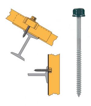 Vis têtalu autotaraudeuse Ø6,3 TK12 laquée pour couverture et bardage sur support métallique