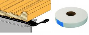 Schéma bande mousse polyéthylène