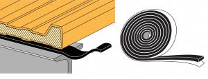 Bande mousse 20x3 polyéthylène par 30 mètres adhésive anthracite film silicone