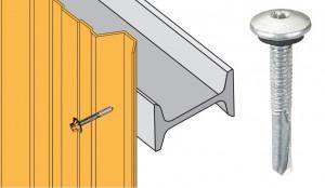 Vis inox TCB autoperçeuse P13 Ø5.5x40 - fixation bardages bacs acier sur poutrelles