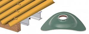 Plaquette aluminium prélaqué pour tôle ondulée
