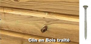 Vis en acier inoxydable austénitique A2 pour bardage bois