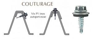 Vis inox TH autoperçeuse P1 Ø4,8 + vulca pour couturage