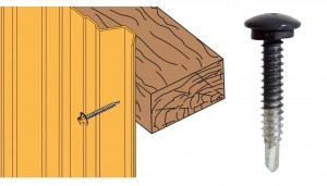 Schéma vis tcb 6.3x38 zn bardage sur bois