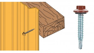 Schéma vis 6.3x38 zn bardage sur bois