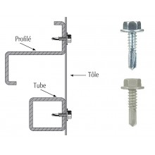 Vis TH autoperçeuse P5 - fixation de tôles, plateaux sur zed ou tubes