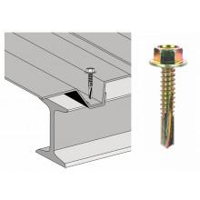 Vis th autoperçeuse P13 6.3x35 - fixation de bac support d'étanchéité sur poutrelle