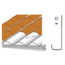 Crochet pour couverture plaque sous tuile sur poutrelle métallique