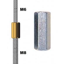 Manchon réducteur M6-M8 pour tiges filetées
