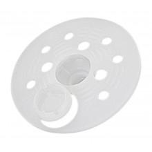 Rosace plastique Ø 60mm pour le maintien d'isolant