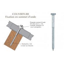 Tirefond 8x120 à visser pour couverture plaques fibres-ciment 177x51