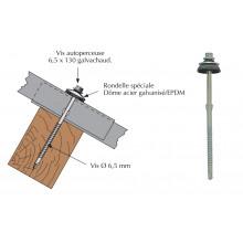 Vis autoperceuse a ailettes pour couverture plaque fibres-ciment 177x51 sur bois