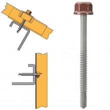 Vis têtalu autoperçeuse P5 Ø6.3 TK12 laquée pour couverture et bardage sur profilés/tubes